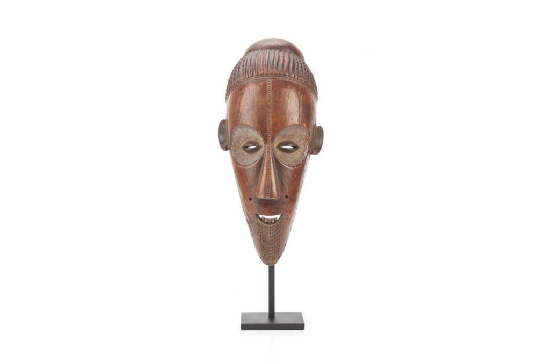 African carved wood tribal mask