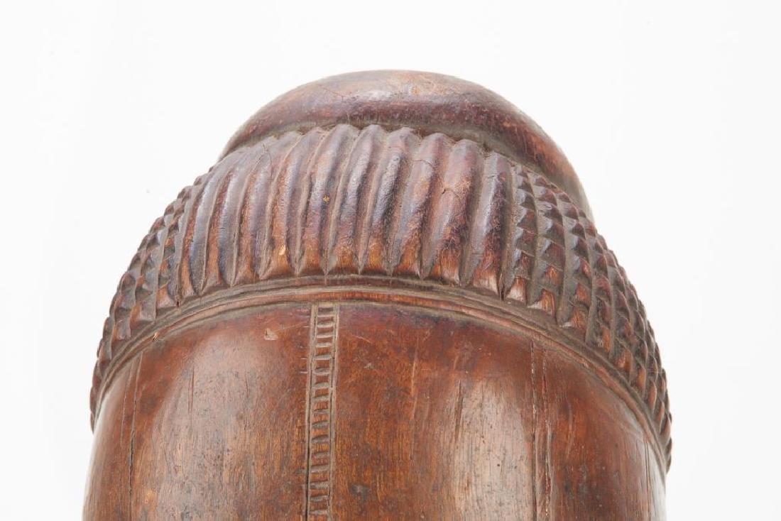 African carved wood tribal mask - 5