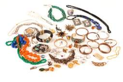 Large lot of silver & costume jewellery