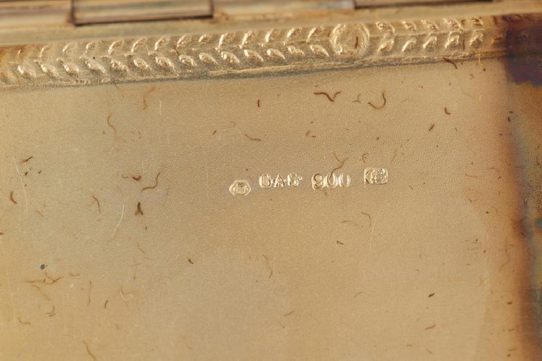 German silver gilt enamelled cigarette case - 2