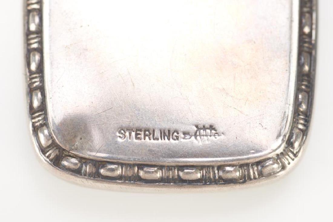 American silver and enamel perfume flask - 2