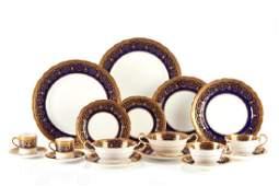 41 pc Aynsley Wilton pattern porcelain dinnerware