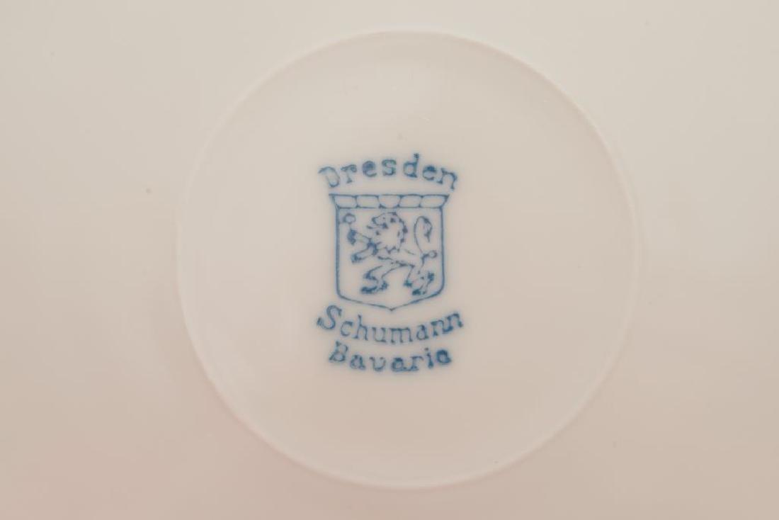 Twelve pierced Dresden German porcelain plates - 2