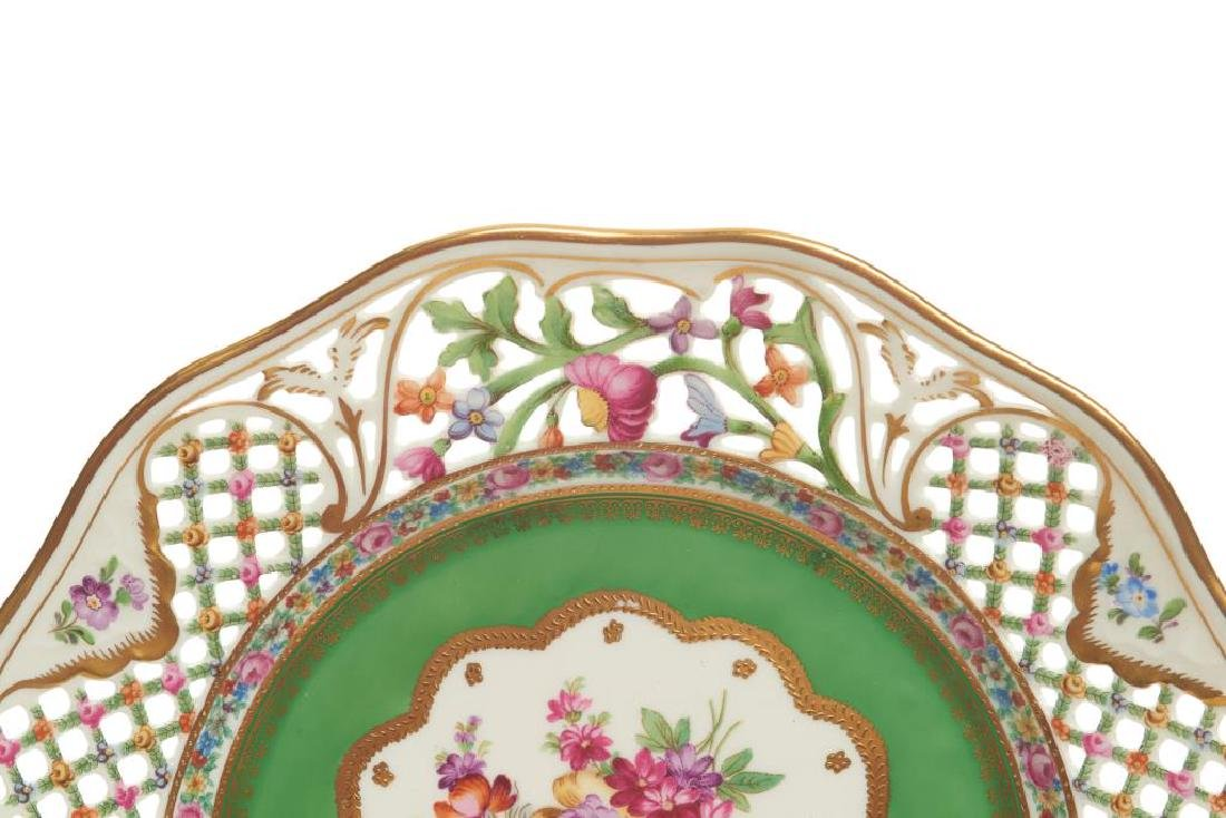 Twelve pierced Dresden German porcelain plates - 3