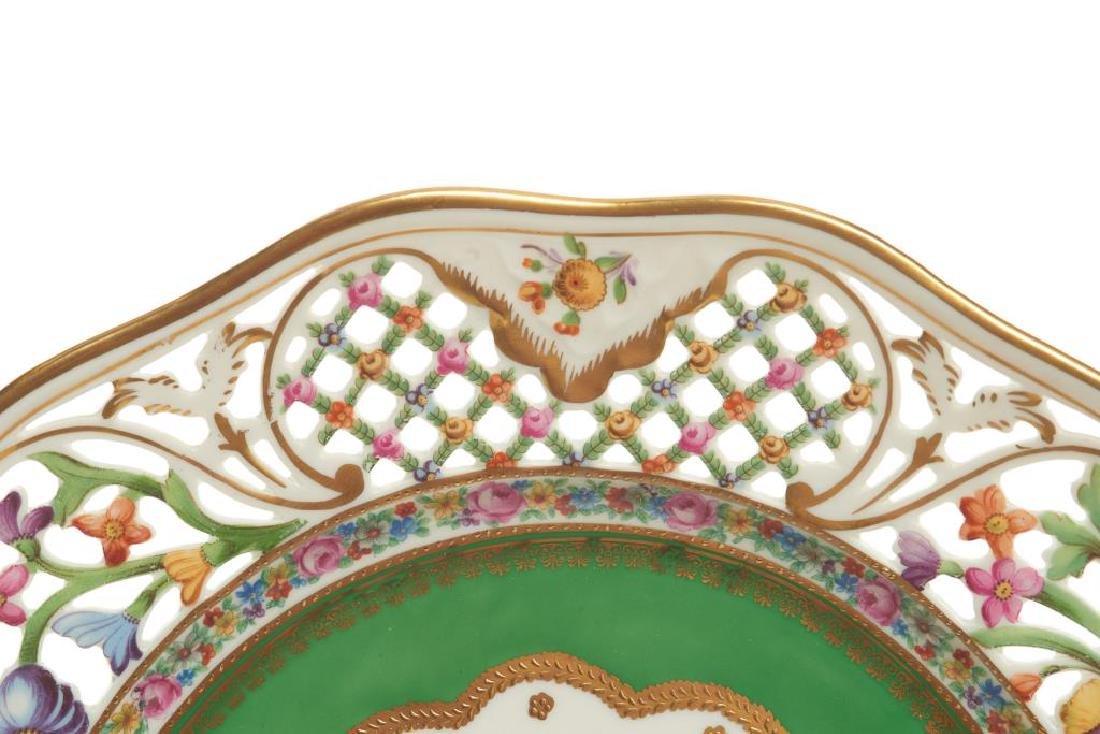 Twelve pierced Dresden German porcelain plates - 4
