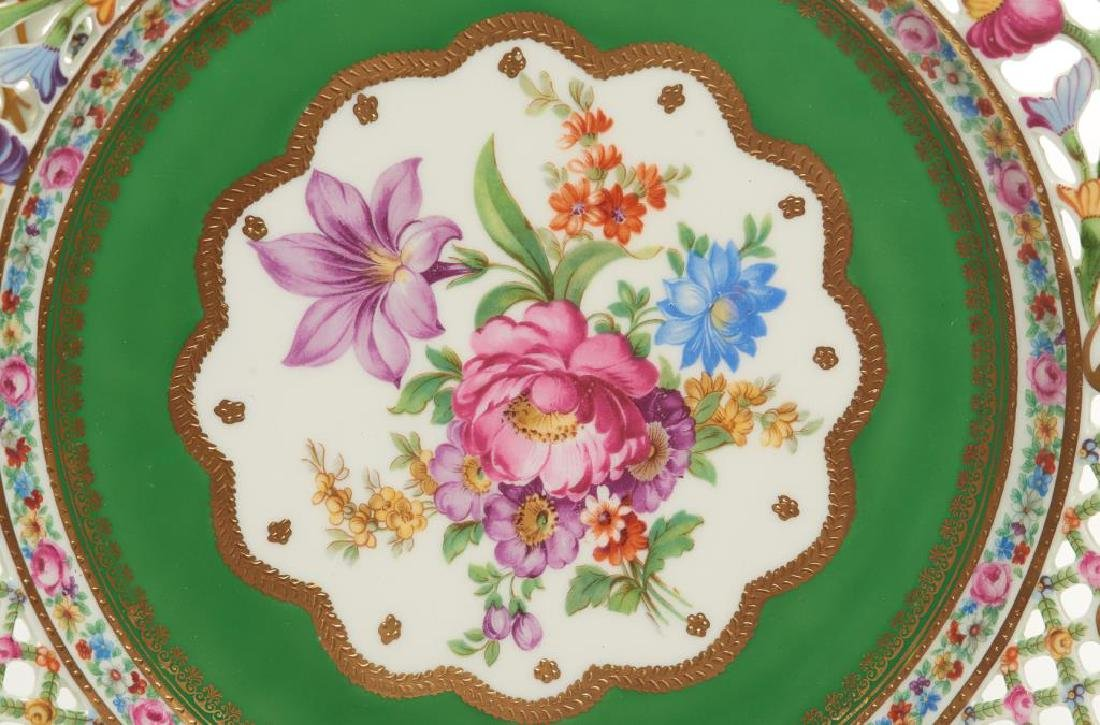 Twelve pierced Dresden German porcelain plates - 6