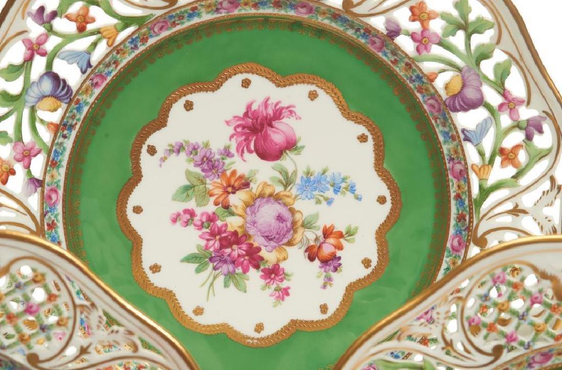 Twelve pierced Dresden German porcelain plates - 7
