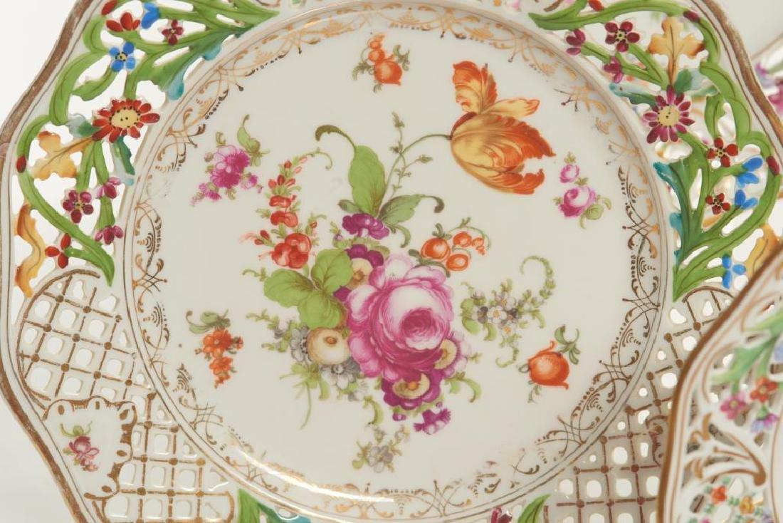 Assorted Dresden German porcelain dinnerware - 2