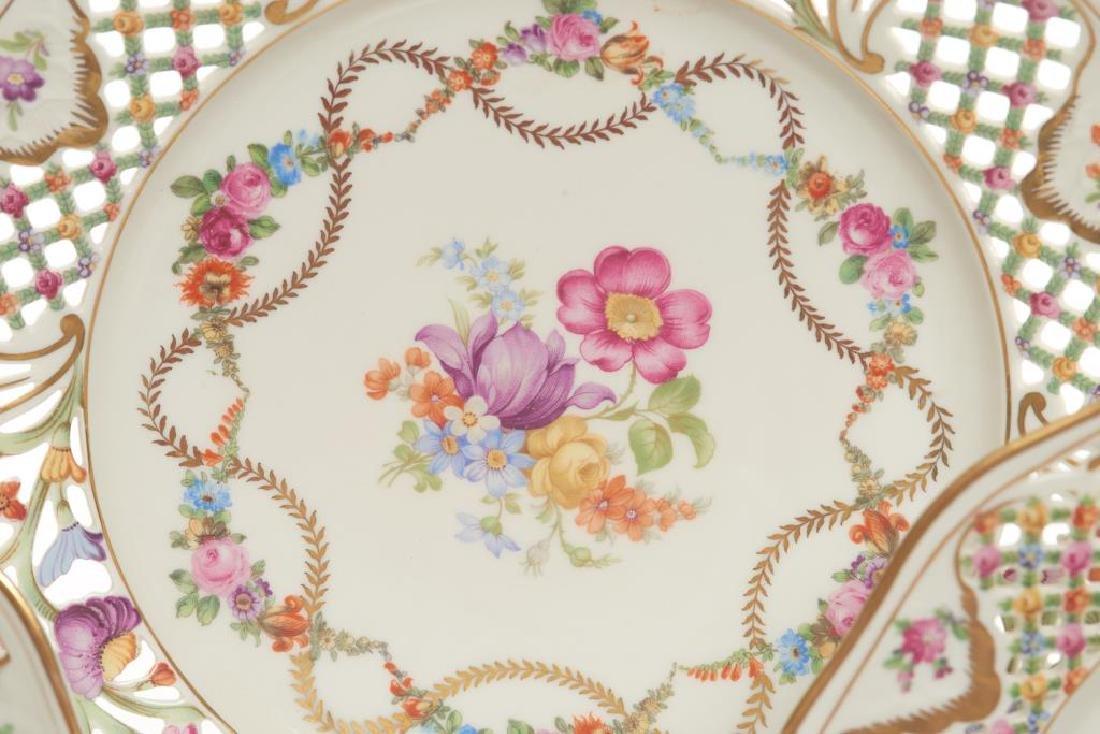 Assorted Dresden German porcelain dinnerware - 3