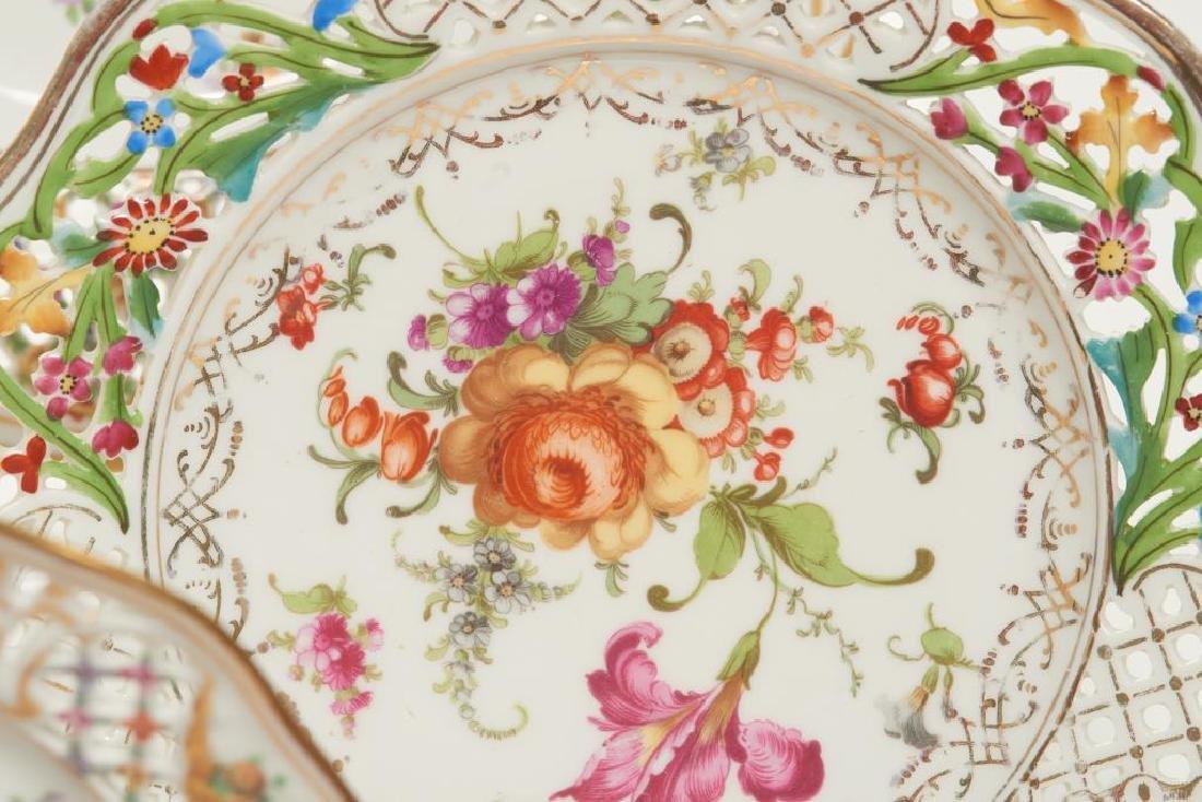 Assorted Dresden German porcelain dinnerware - 4