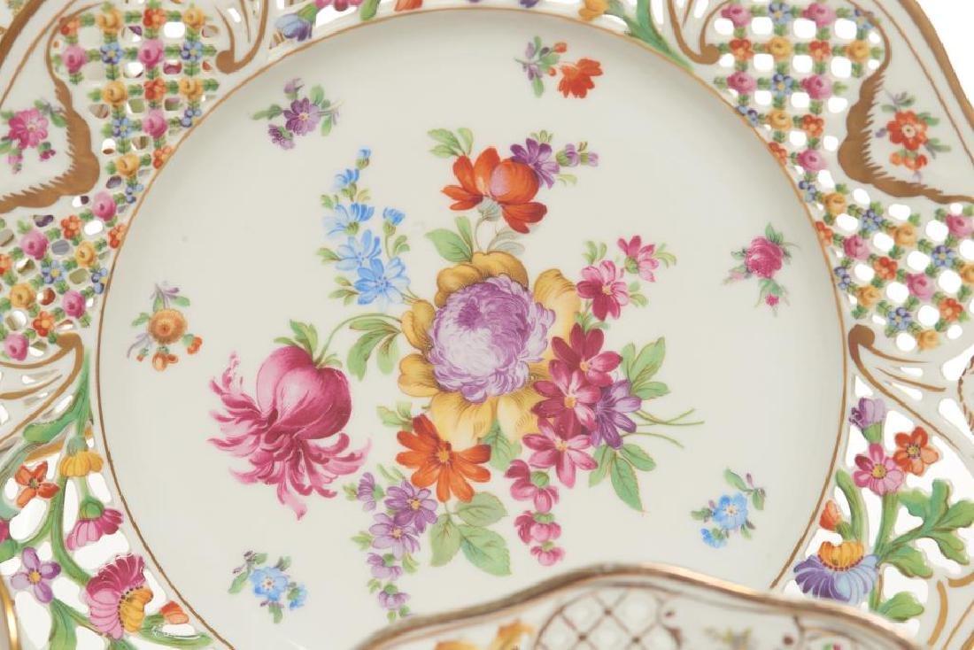 Assorted Dresden German porcelain dinnerware - 5