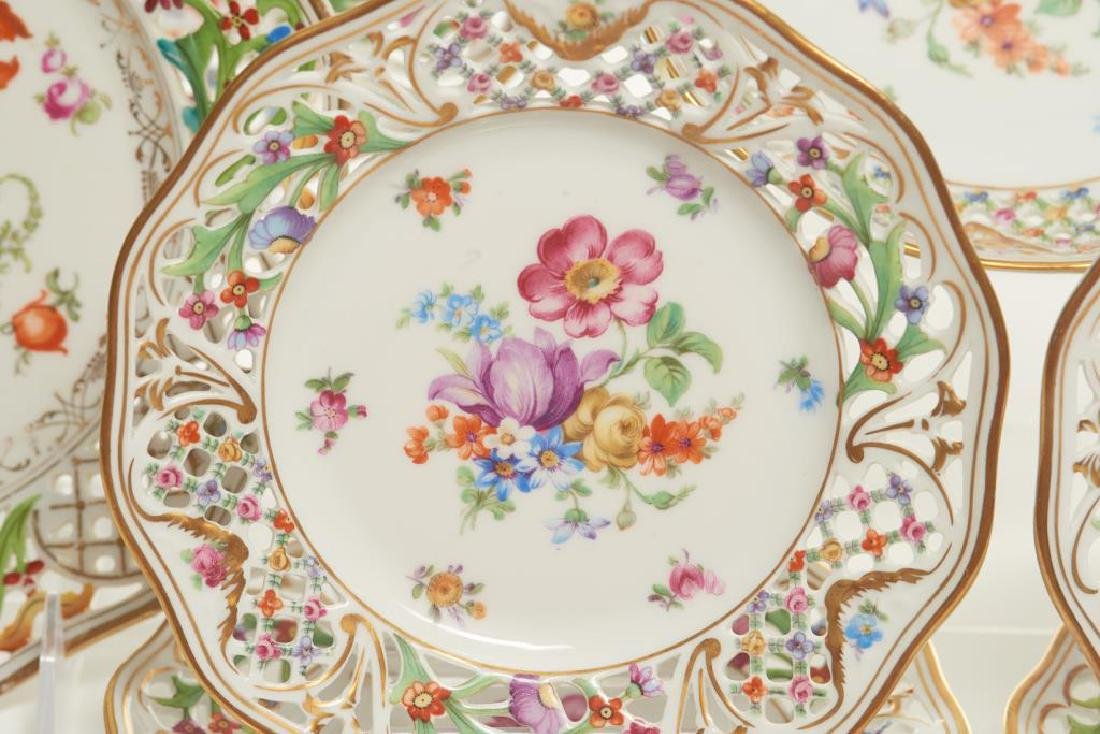 Assorted Dresden German porcelain dinnerware - 6