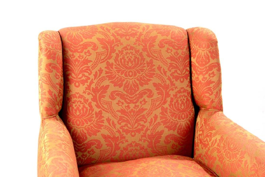 Pair of Georgian style upholstered club chairs - 2