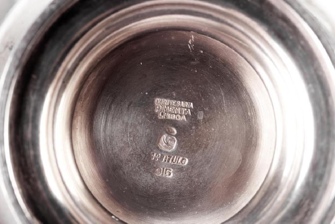 Five piece Portuguese silver tea & coffee set - 2