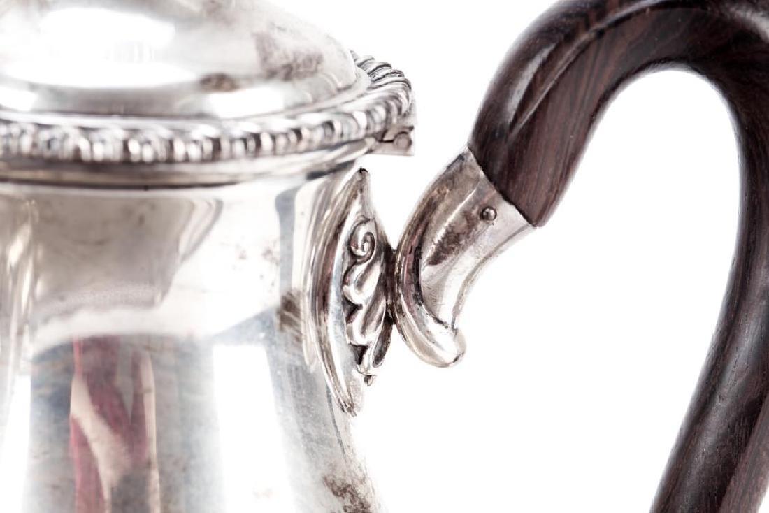 Five piece Portuguese silver tea & coffee set - 4