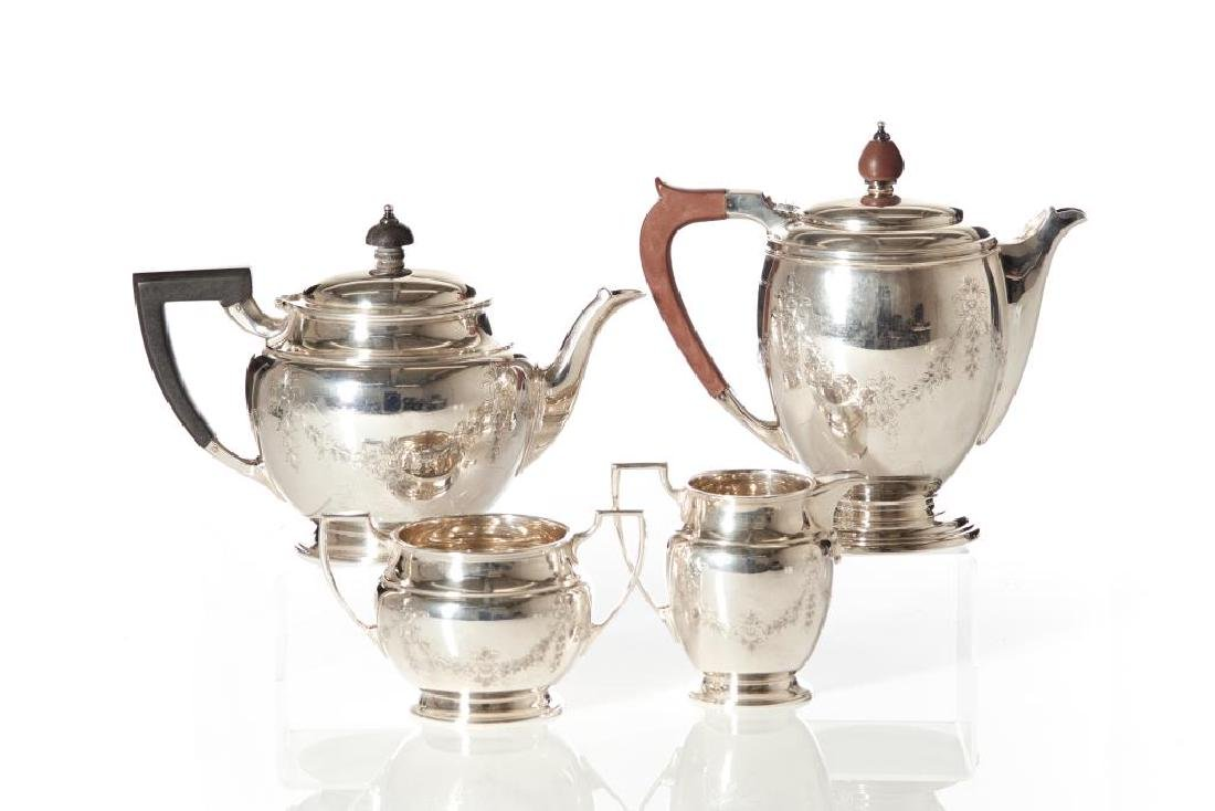 English silver tea and coffee set