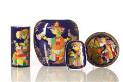 Four Bjorn Wiinblad porcelain pieces
