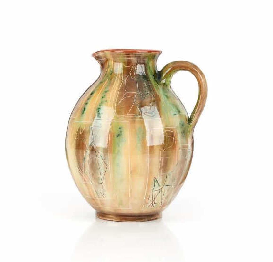 Theo & Susan Harlander pottery water jug