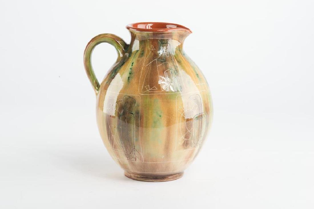 Theo & Susan Harlander pottery water jug - 4