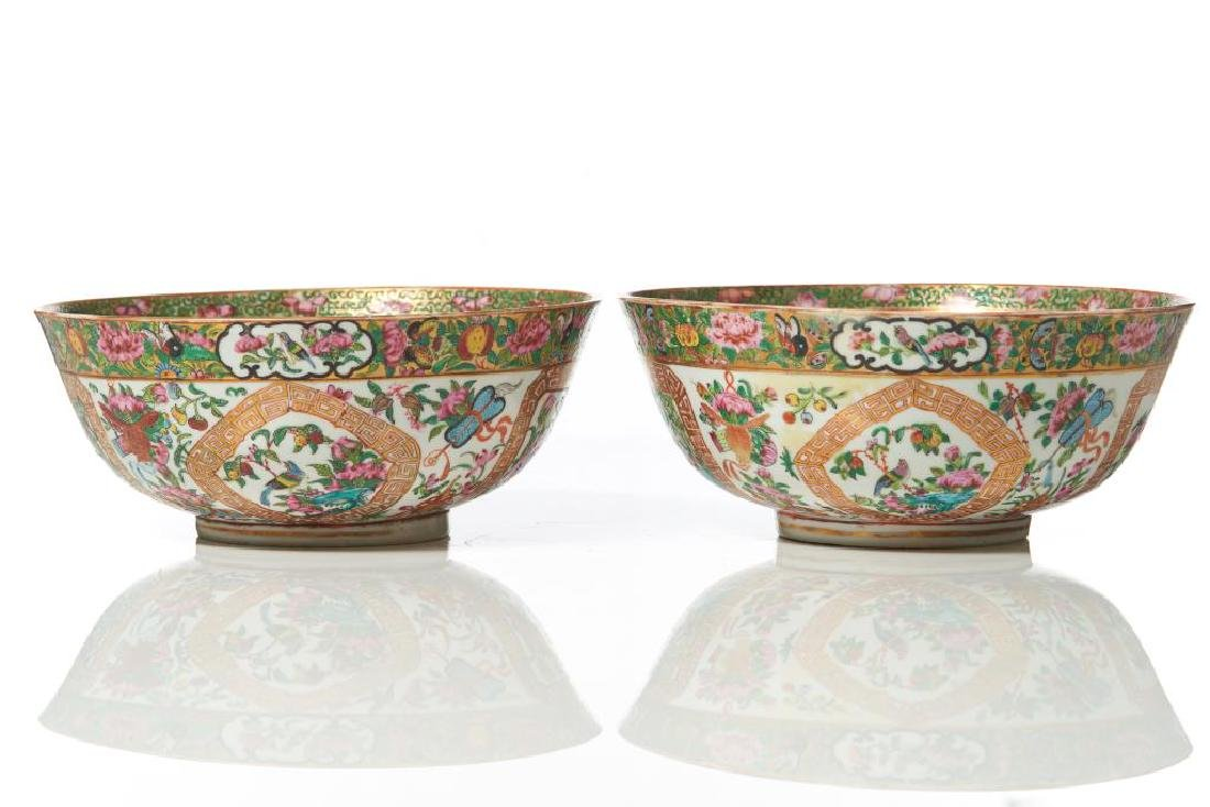 TWO ISLAMIC MARKET CANTON FAMILLE ROSE BOWLS - 7