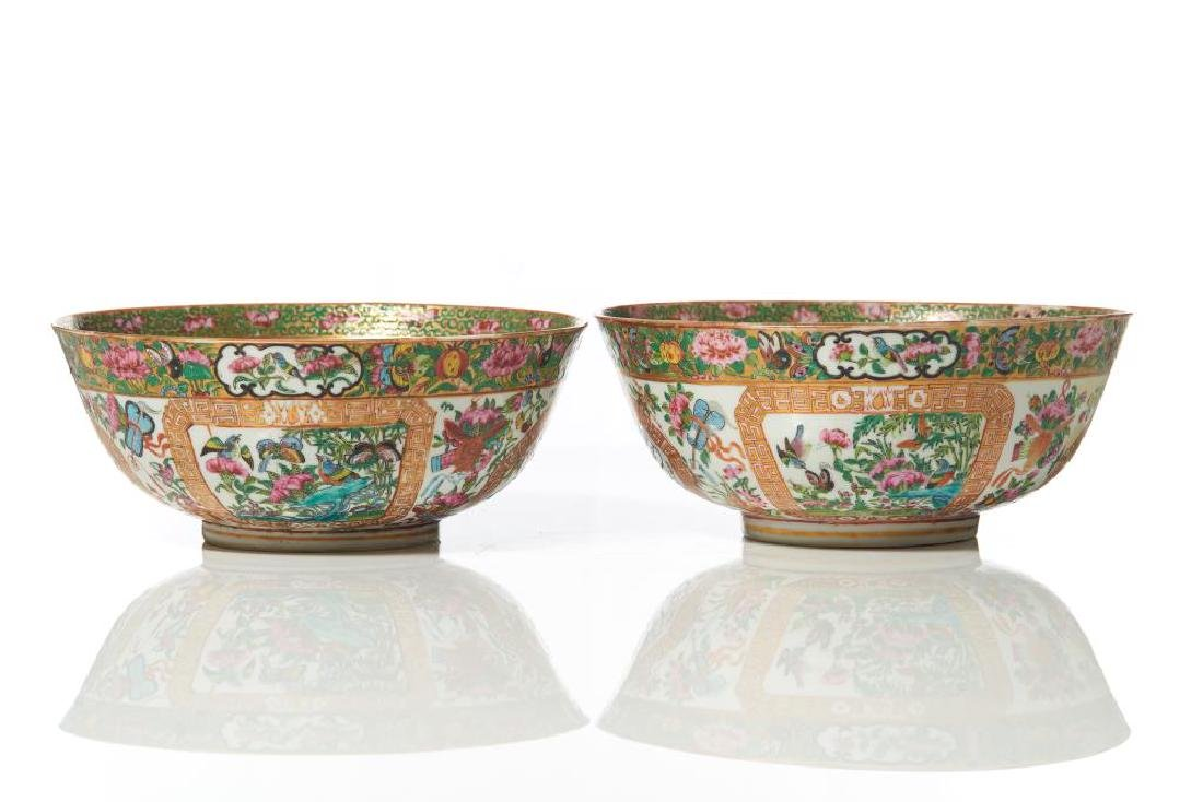 TWO ISLAMIC MARKET CANTON FAMILLE ROSE BOWLS - 8