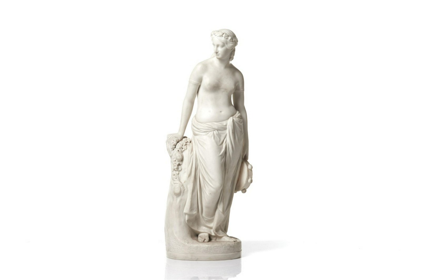 CLASSICAL COPELAND PARIAN LADY WITH A TAMBOURINE