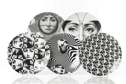 PIERO FORNASETTI FOR ROSENTHAL FIVE PLATES