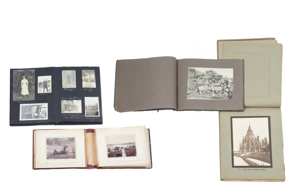 LOT OF FOUR CANADIAN PHOTO ALBUMS C. 1896-1930