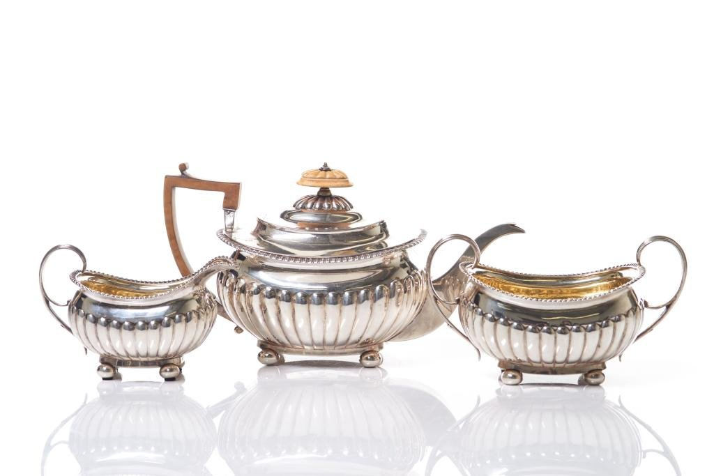 ENGLISH GEORGE III SILVER TEA SET