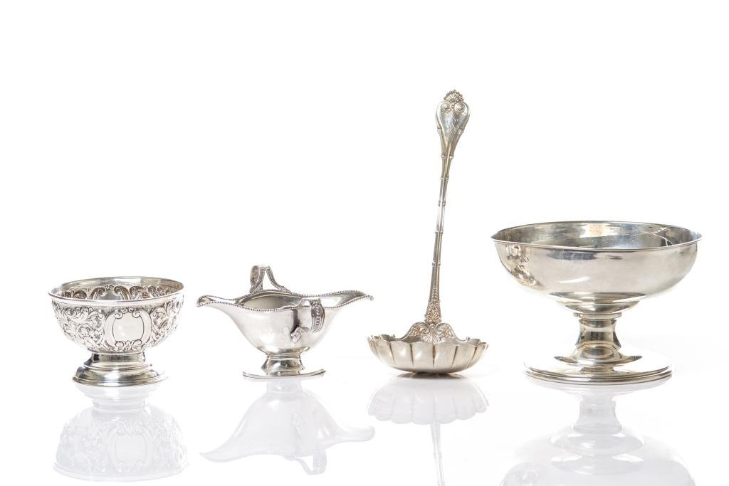 GROUP OF FOUR SILVER PIECES