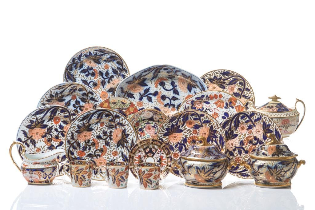GROUP OF ASSORTED ENGLISH REGENCY PORCELAIN