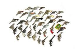 LARGE LOT OF VINTAGE METAL TOY CAP GUNS
