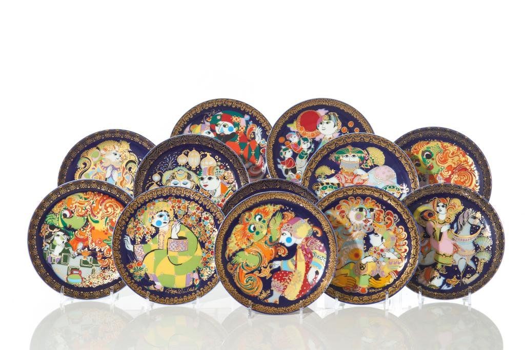 GROUP OF BJORN WIINBLAD FOR ROSENTHAL SIDE PLATES
