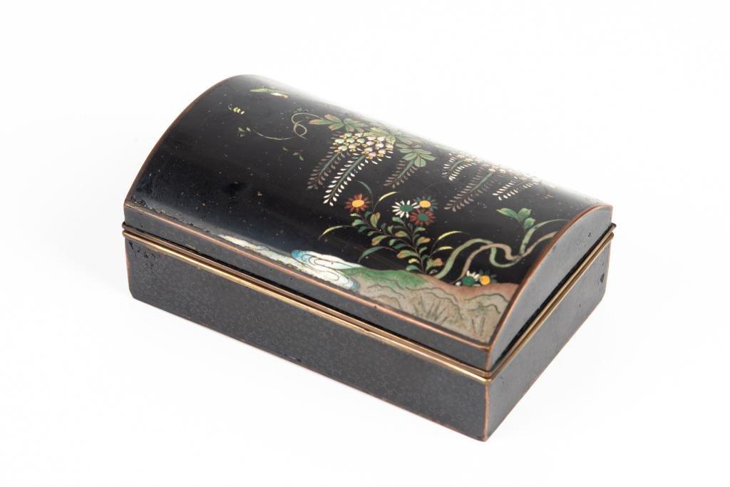 JAPANESE KYOTO INABA CLOISONNE ENAMELLED BOX