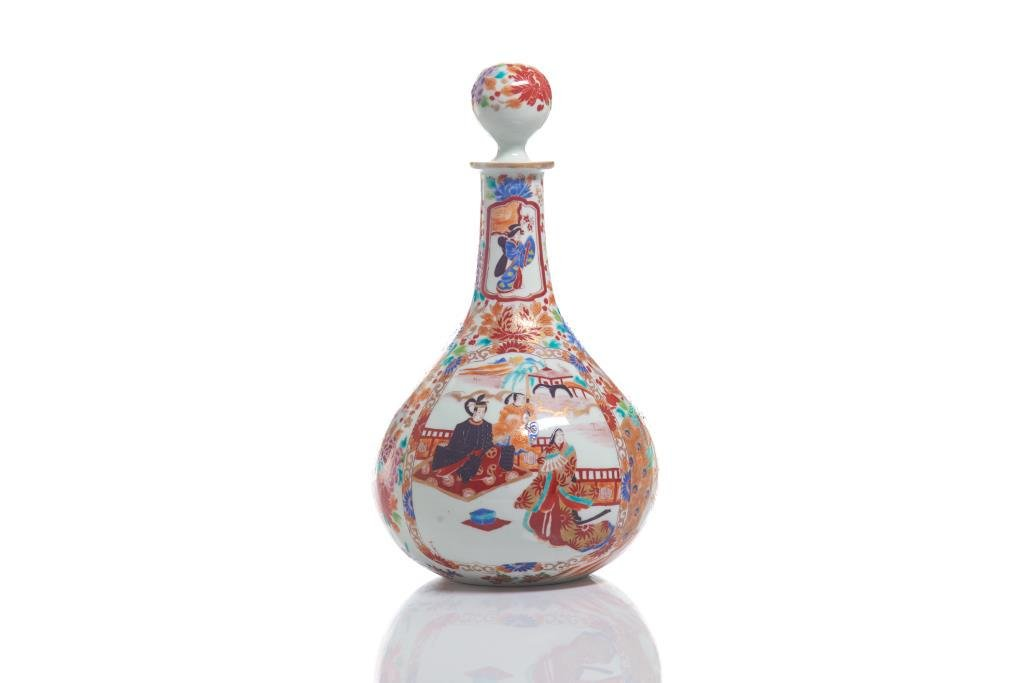 JAPANESE IMARI PORCELAIN BOTTLE DECANTER