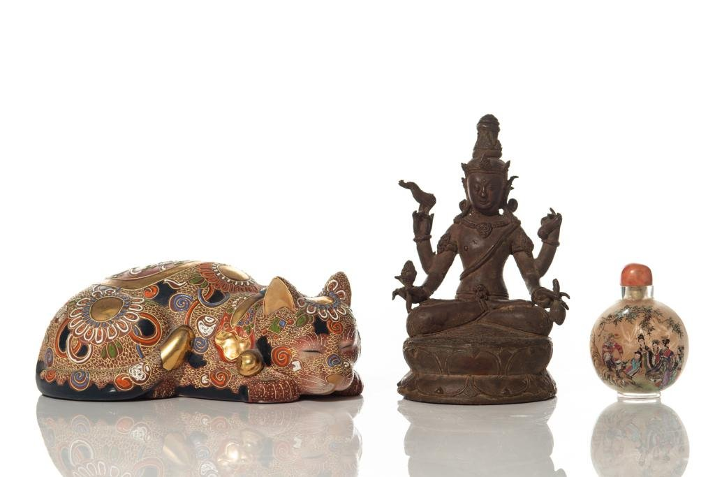 GROUP OF THREE ASIAN ANTIQUES
