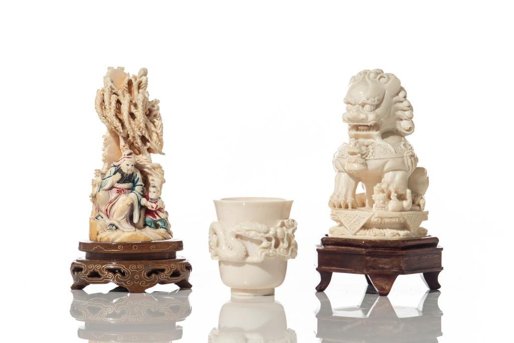 THREE CHINESE NATURAL CARVED PIECES