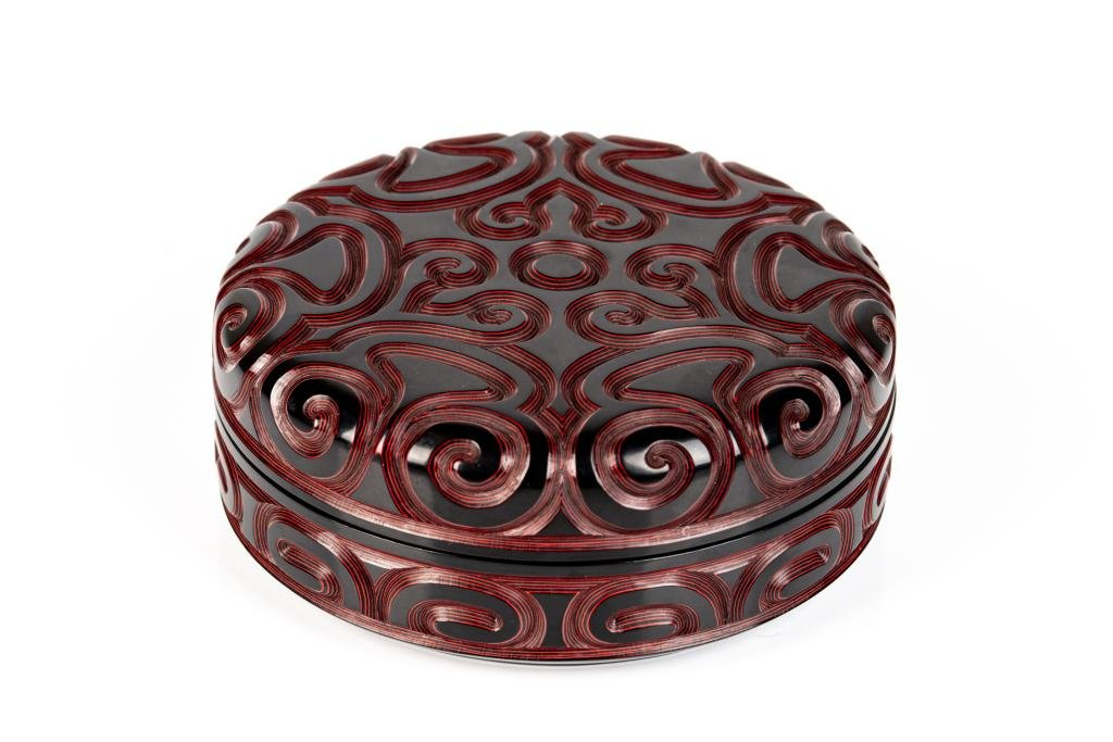 CHINESE CIRCULAR TIXI LACQUER STYLE BOX