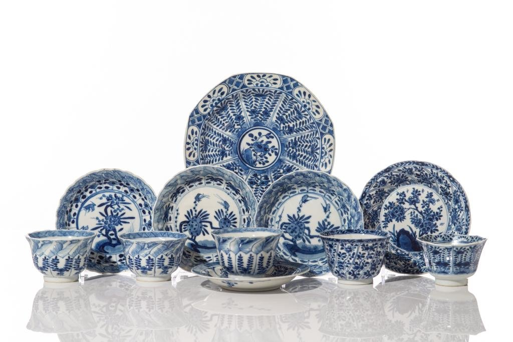 GROUP OF CHINESE BLUE & WHITE EXPORT PORCELAIN