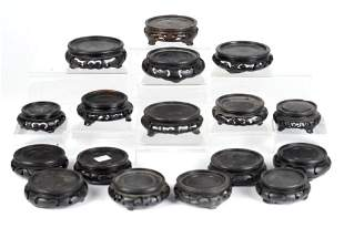 SEVENTEEN CIRCULAR CHINESE LOW STANDS