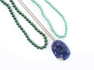 THREE CHINESE NECKLACES