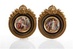 PAIR OF VIENNA PORCELAIN CABINET PLATES