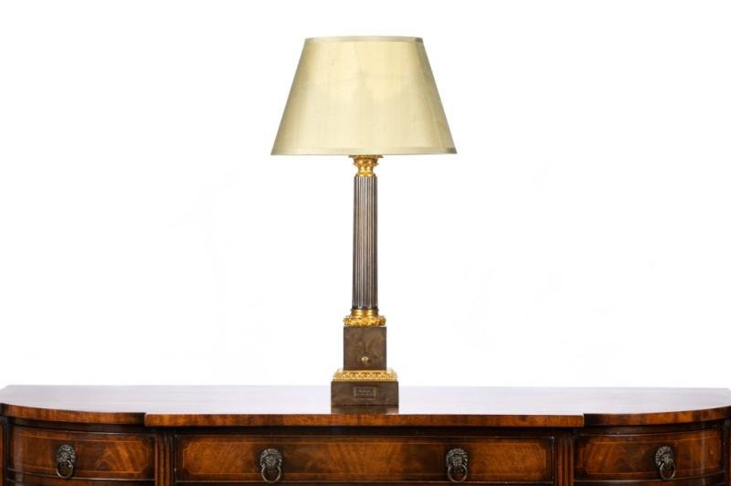 FRENCH EMPIRE STYLE COLUMN FORM LAMP