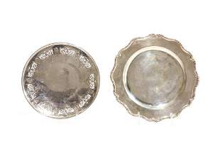 TWO SILVER DISHES 808g