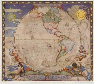 WYETH, N.C. Map of Discovery - Western Hemisphere