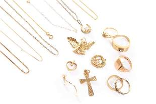 ASSORTMENT OF GOLD AND SILVER JEWELLERY 31g