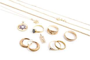 ASSORTED GOLD JEWELLERY, 43g