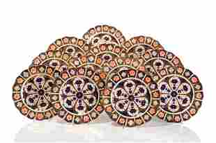 TWELVE ROYAL CROWN DERBY IMARI SCALLOPED PLATES