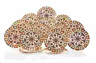 FIFTEEN ROYAL CROWN DERBY IMARI SALAD PLATES
