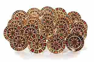 TWENTY-ONE ROYAL CROWN IMARI BREAD & BUTTER PLATES
